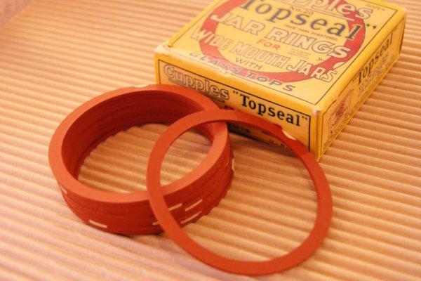 画像1: ?6.8 Cupples Topseal☆ビンテージ ワイドマウスジャーリング☆箱入り
