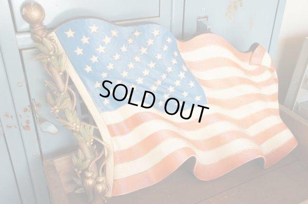 画像1: BURWOOD ビンテージ 星条旗ウォールプラーク