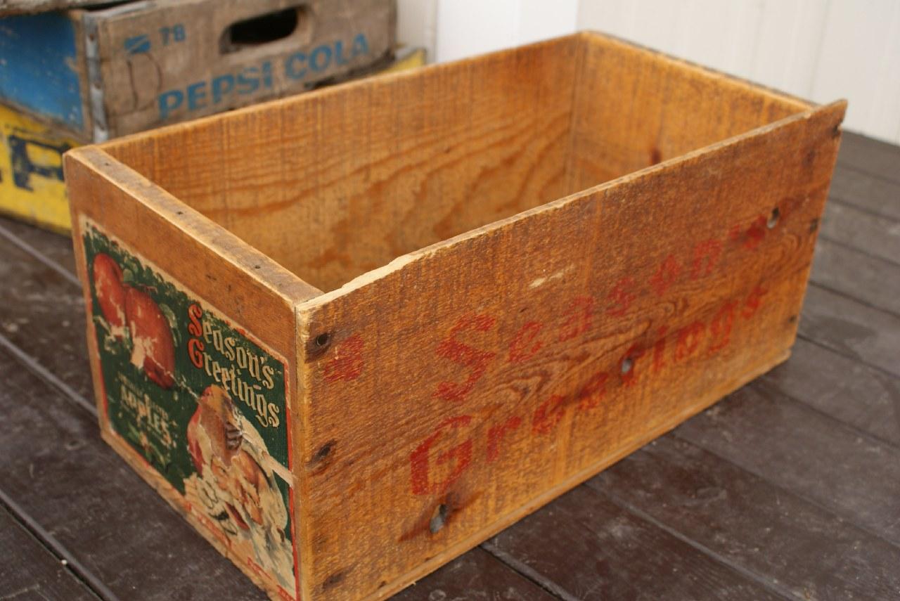 りんごの木箱 Wood Box Recoltz Webshop