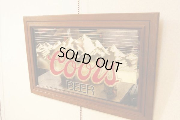画像1: 1986年 Coors Beer?ビンテージ パブミラー