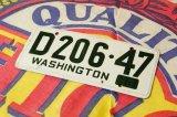 1953☆WASHINGTONバイシクル ナンバープレート☆D206-47