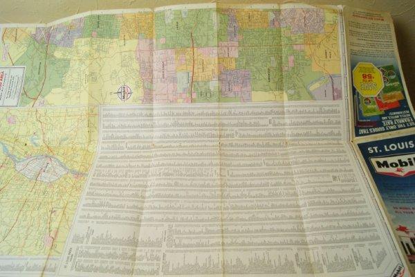 画像3: 1963年☆Mobil ビンテージロードマップ☆ST.LOUIS
