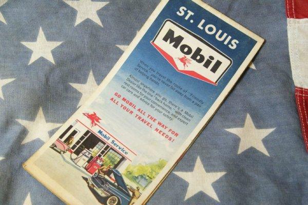 画像1: 1963年☆Mobil ビンテージロードマップ☆ST.LOUIS