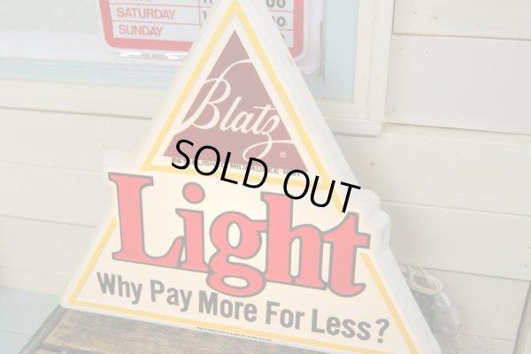 画像1: ビンテージ 70s Light Beer ビール ライトバナーサイン