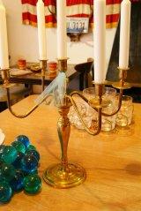 ビンテージ ブラス/真鍮 キャンドルホルダー