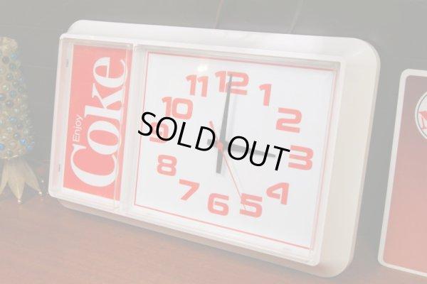 画像1: 1984年製 ビンテージ coca-cola/コカ・コーラクロック