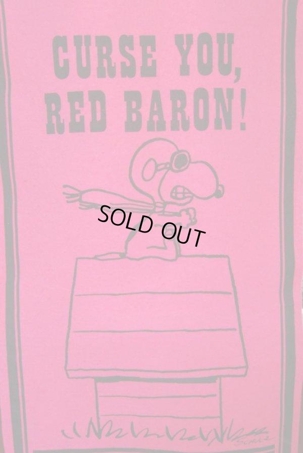 画像2: ビンテージ スヌーピー ペナントバナー  RED BARON レッドバロン