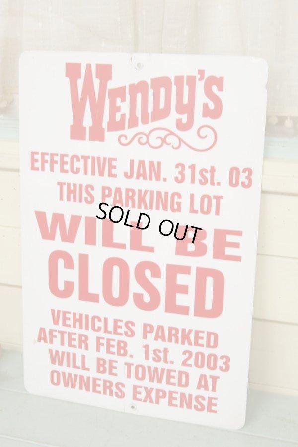 画像1: Wendy's☆ビンテージ パーキングサイン