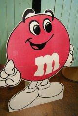 レア!!107cm ジャイアントサイズ M&M's ストアーサイン 看板 レッド