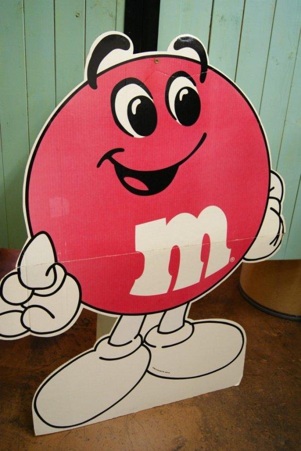 画像1: レア!!107cm ジャイアントサイズ M&M's ストアーサイン 看板 レッド