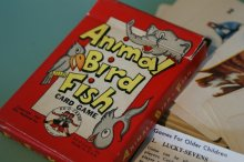 "他の写真1: 40s CARD GAME ""Animal・Bird・Fish"""